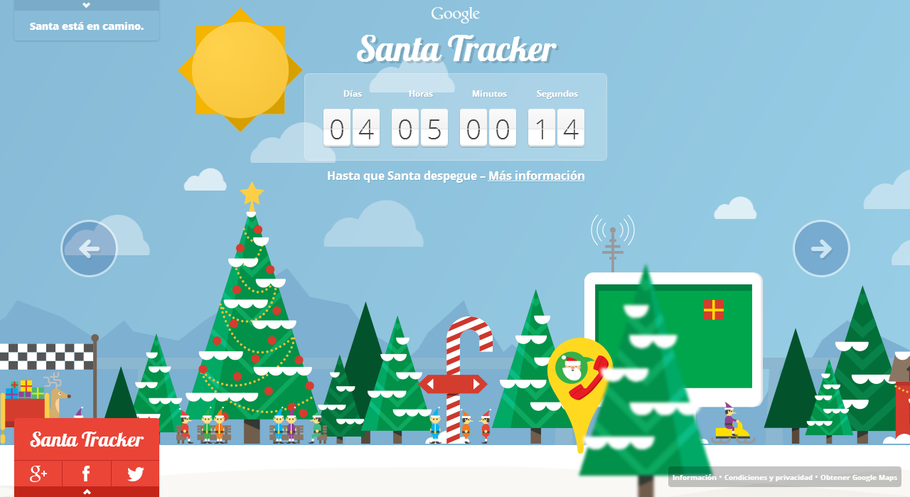 santa tracker de google 3a80434 Google Juegos   Ver Donde esta Santa Claus