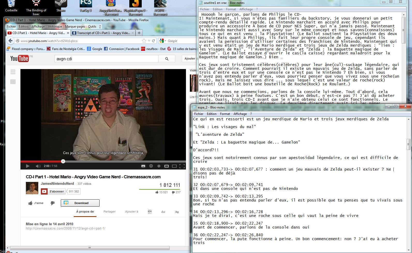 """(Sous-titrage en """"Closed Captions"""" sur Youtube) Ma méthode de sous titrage  Tuto1-3abe5fe"""