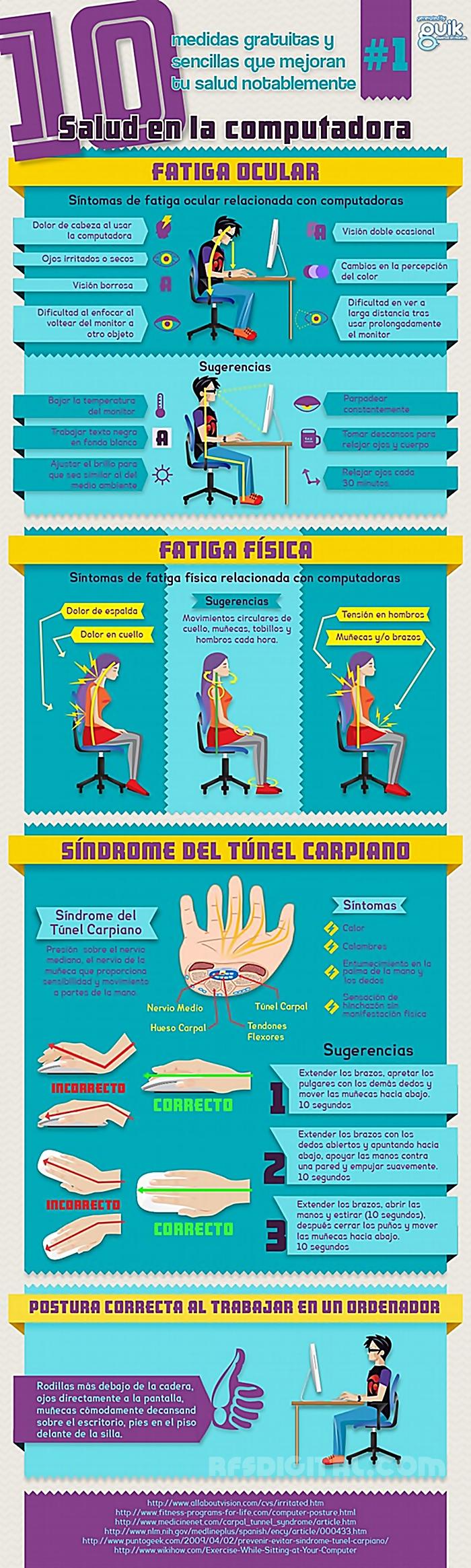 Cómo cuidar nuestra salud frente a la computadora